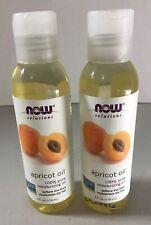 2 Now Foods Apricot Oil 100 percent Pure Moisturizing Oil - 4 oz