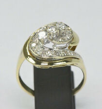 Moderner Bicolor Damenring 14 Karat Luxusring Brillant Ring  Diamant  Nr.1549
