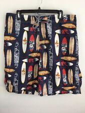 Nautica Men Swim Trunks Shorts 38 XL Short Board Surf Aloha Multi-color Lined
