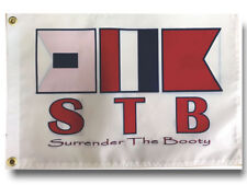 """Stb Surrender the Booty Signal Boat Flag 12X18"""" New"""