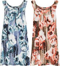 Geblümte Damenblusen,-Tops & -Shirts im Trägertops-Stil mit Polyester für Freizeit