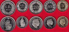 Switzerland set of 5 coins: 5 rappen - 1 franc 2013 UNC