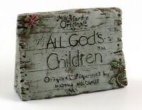 Vintage Martha Holcombe Miss Martha's Originals All God's Children Sign, 1987