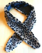 Long LEOPARD Faux FUR STOLE or SCARF or COLLAR with Black Lining by ATMOSPERE