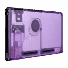 Custom Transparent Clear Purple Back Housing Shell for Nintendo Switch Console