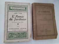 EL AÑO de La Jardinier-Le Jardinería 1891-1933 J. Foussat K Capek Stock-Hachette