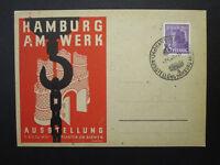 Germany 1948 Hamburg AM WREK Cacheted Postcard w/ Event Cancel - Z6876
