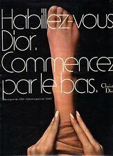 PUBLICITE advertising 1970  DIOR  bas et collants