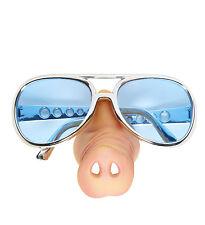 Gafas de sol de nariz de cerdo/specs Vidrio elaborado vestido de policía Piggy policía hocico Funny Toy