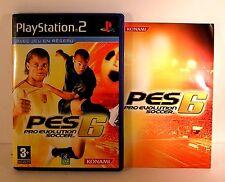 Jeu playstation PS2 - foot PES 6 pro evolution soccer avec boite et notice