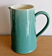 Vintage Denby Stoneware Manor Green Large Jug / Pitcher 3 pint c1950s - 1970s