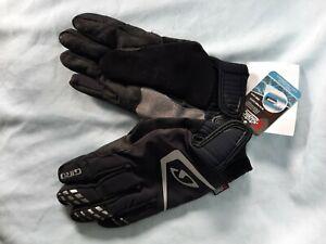 GIRO PIVOT  GLOVE Winter Cycling Gloves, Black, Size M, NOS..X Static fabric.