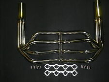 FORD WINDSOR 289 - 351 STREET ROD POLISHED STAINLESS  SPRINT EXTRACTORS HEADERS