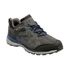 REGATTA MENS SAMARIS SUEDE LOW WALKING SHOE BRIAR GREY OXFORD BLUE RMF576