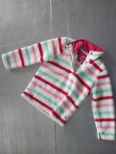 Joules girls long sleeve fleece striped jacket size 5 years 110cm