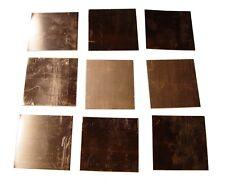 New Copper Sheet Nine 3 X 3 Pieces Metal Working 16 Oz 24 Gauge Crafts