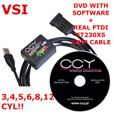 PRINS VSI 1 Diagnostic Diagnosis USB INTERFACE  LPG GLP CNG Cable + DVD Software