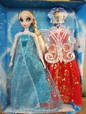 "Frozen Princess Elsa doll 12"" Figure with Extra Dress ~NIB"