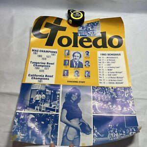 1983 UNIVERSITY OF TOLEDO ROCKETS FOOTBALL POSTER SCHEDULE M5