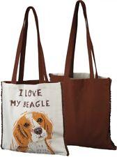 Beagle Love Cotton Tote Bag