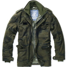 Brandit Giacca giaccone Cappotto Uomo Vintage M 65 Voyager Wool Jacket S Woodland