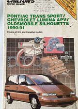 1990 1991 PONTIAC TRANS SPORT, CHEVY LUMINA APV, OLDS SILHOUETTE REPAIR MANUAL