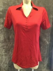 Cutter & Buck Womens Polo Size Medium. Deep Red Brand New! Golf Shirt