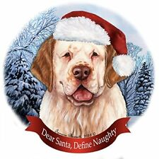 Holiday Pet Gifts Clumber Spaniel Orange and White Dog Porcelain Ornament