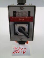 Ex Sicherheits Schalter Motorschalter Maschinenschalter + 2 Stecker #26010
