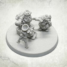 Dvergr Commando Mortar Team Squat Space Dwarf Dwarves Kromlech Resin KRM135