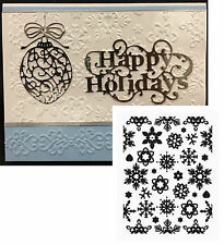 Snowflake Embossing Folders WINTER CHILL embossing folder Ult Crafts Christmas