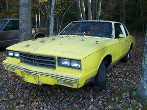 1981 Chevy Monte Carlo no engine/trans or paperwork! 81 Salvage Parts Car