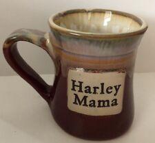 HARLEY MAMA pottery mug pre owned good condition burgundy Brown