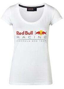 T-SHIRT Ladies Top Red Bull Racing Formula One 1 Team Womens NEW! Logo White