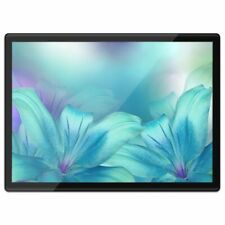 Quickmat Plastic Placemat A3 - Blue Turquoise Lilies Flowers  #21265