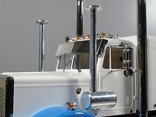 New Pair Aluminum Air Cleaner Intake Tube Tamiya RC 1/14 King Hauler Semi Truck