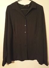 3469d6d8551 Laura Scott Blouse Plus Size 20 Women Button Up Pinstripe Long Sleeve