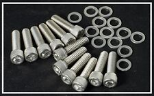 "BBC 3/8"" STAINLESS INTAKE MANIFOLD BOLT SET 16 pc. KIT 1.50 LENGTH I-150-16"
