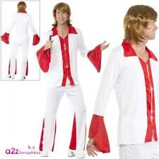 Mens Super Trooper Costume 70s ABBA Disco Themed Fancy Dress Party Medium Chest up to 40 Leg Inseam 32.75