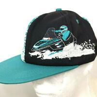 Polaris Snowmobile Hat Baseball Ball Cap Snapback Flat Brim Snowmobiler NEW 90s