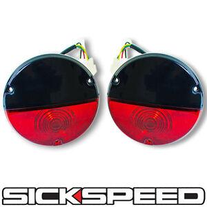 BLACK/RED VINTAGE TAILLIGHT KIT FOR SICKSPEED REAR FINISH PANEL CONVERSION