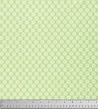 1/2 yd Lola PWTW105 Green Little Flowers by Tanya Whelan for Free Spirit