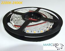 24VDC IP20 SMD5050 LED strip 2200K-2400K, 5m (72W, 300LEDs), very warm white