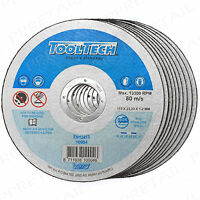 "10 x THIN STAINLESS STEEL METAL CUTTING DISC 115 x 22.2mm 4 1/2"" Angle Grinder"