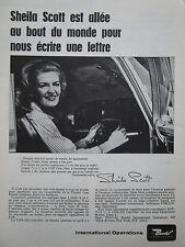 1/1967 PUB BENDIX TROPHY LINE CNS-220 COM/NAV SHEILA SCOTT ORIGINAL FRENCH AD