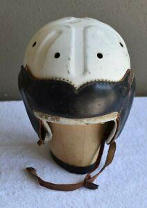 Rare 1930's SPALDING Leather Football Helmet Model 32FH7 1/2-Great Display