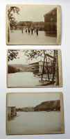 3 Orig. Fotografien Hochwasser Rottwerndorf 1897 Pirna Sachsen Überschwemmung xz