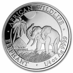 2017 1/4 oz Somalia Silver Elephant Coin (BU)