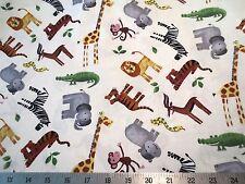 Safari Adventure All The Jungle Animals Northcott Cotton Fabric 20529-11