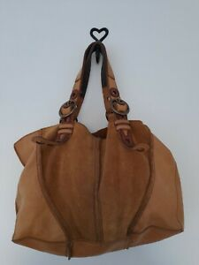 Gorgeous Large Soft Leather And Suede Boho Hobo Bag By Lucky Brand